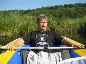 "unterwegs im Schlauchboot.""Libellenkartierung 2011/ Stechliner Land"""